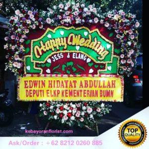 bunga papan ucapan selamat, bunga papan wedding, bunga papan pernikahan